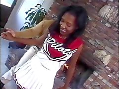 Young ebony cheerleader