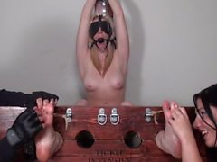 Frantically Ticklish Christina Topless and Punished!