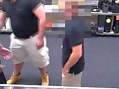 Gay bear pawnbrokers facialize straight thief