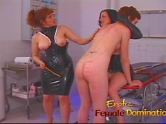 Dominatrix makes a first time slave cry in no time