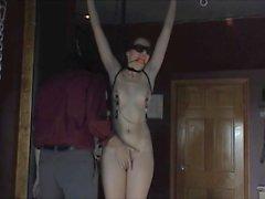 Maid girl bound, gagged, fingered, toyed, molested