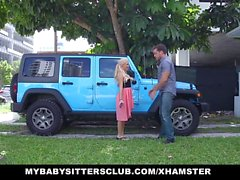 MyBabySittersClub - Babá surpreendeu com pau em bday