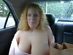 Boobs in the car