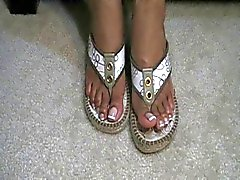 Ebony french tip gold sandals