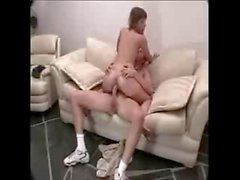 Babe Takes Big White Cock Up Her Ass