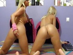Two Sexy Blond Girls play at webcam
