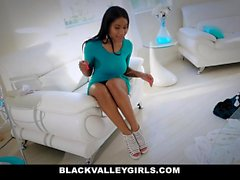 BlackValleyGirls - Hot Ebony Teen Sneaks Around To Fuck