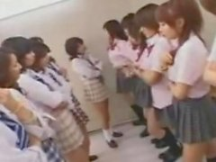Sexy Asian Woman Have Orgy in Classroom!!