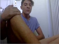 Switzerland, Handsome Boy Cums All Over His Body, Big Load
