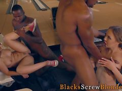 Interracial fourway babes