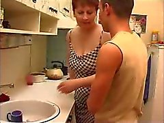 RUSSIAN MOM 11 mature with a young man