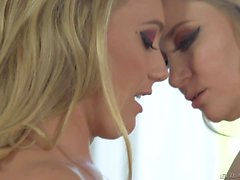 Blondes in pantyhose Aiden Starr and AJ Applegate