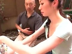 Asian sucking hairy pussy fucking
