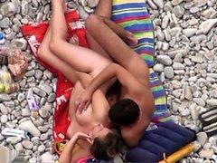 sexy cute big boobs girl outdoor fuck on beach 02