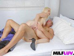 Sweet busty blonde MILF