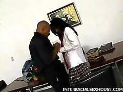 Latina Anne Slurping a Black Dick