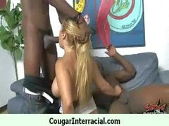 Cougar gets black monster cock for her pleasure 14