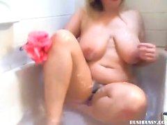 Messy fetish slime shower masturbation