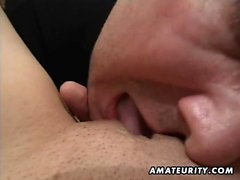 A sensational brunette amateur partner homemade hardcore ac