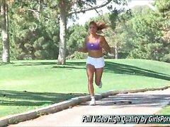 Valentina Cheerleader teen For The Florida Marlins porn