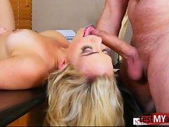 Big ass pornstar ball licking with cum in mouth