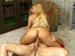 Blond Latina cock addiction is strong