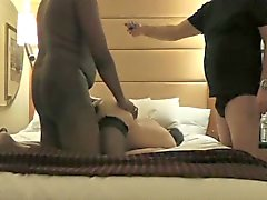 Kinky husband watches his lustful wife taking a black cock