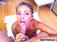Vídeos porno HD de DEEPTHROAT SIRENS threatening-menacing juelz ventura fearsome-fearsome a white on white oral-sex threatening.