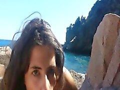Frau saugt meinen Schwanz trocken während unserer awesome Flitterwochen