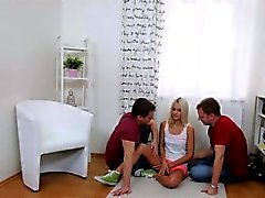 Medic assists with hymen checkup and defloration of virgin n