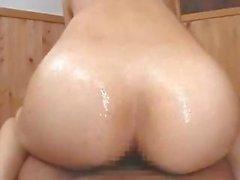 Cute brunette Maria Ozawa Nuru licks his ass and rides hard