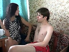 Beautiful chick bounds on lengthy cock