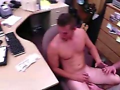 Gay blowjob for amateur dude on camera for cash
