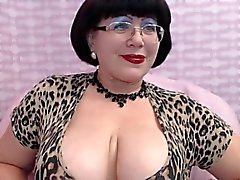 Mature Milf teasing on Web Cam Big Breast