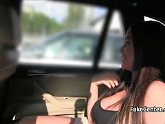 Busty slut fucked in the forest and in the car