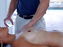 Special massage from sexy young brunette chick