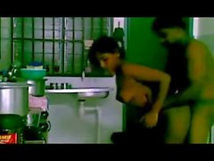 indian sex couple hardcore in kitchen