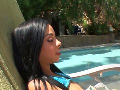 Petite ebony teen fucked by her stepbrother