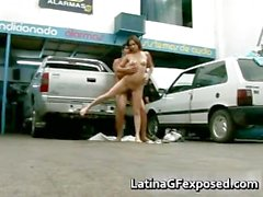 Latin gf night drive backseat sex part5