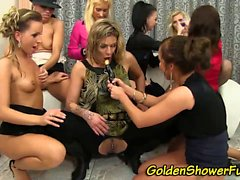 Urine drenched lesbos
