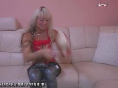 Blonde milf best dildo solo for valentine's day