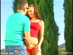 Young Slut With Perfect Tits Gets Bent Over The Car