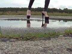 wet feet and wet stripper high heels