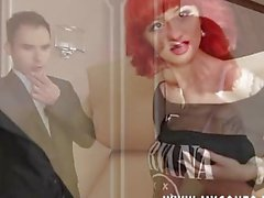 Fake Real Estate Agent and his friend trick a foxy redheaded jail-bait