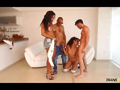 Jhoany Wilker and Perla Rios at gangbang with two males