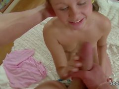 Petite 18yr old Step-Sister Seduce to First Fuck by Step-Bro