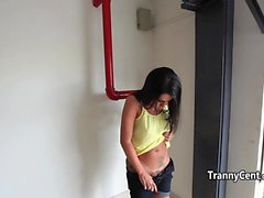 Tranny twerking behind the scenes