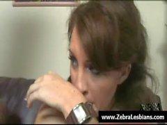 Zebra Lesbians - Nasty ebony babes love strap-on fuck 13