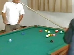 Hunks enjoy punk tranny carla voguel on pool table