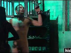 Cybill Troy tortures her slave boy